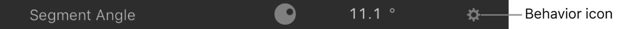 Behavior icon in a filter parameter