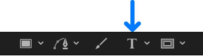 Herramienta Texto en la barra de herramientas del lienzo