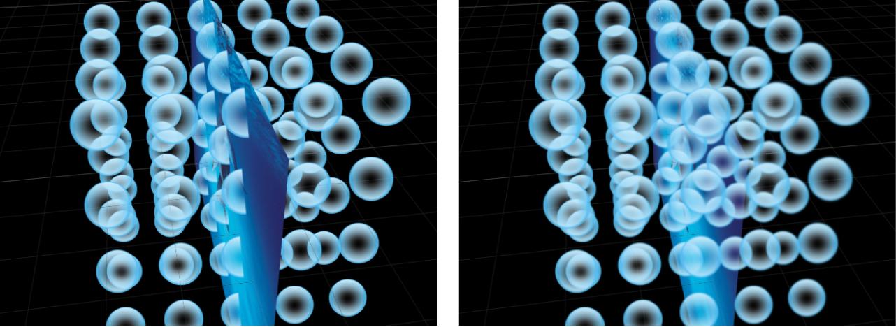 Lienzo que muestra el replicador 3D antes y después de la rasterización.