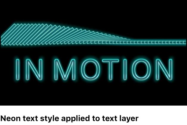 Lienzo y objeto de texto con un estilo predefinido aplicado
