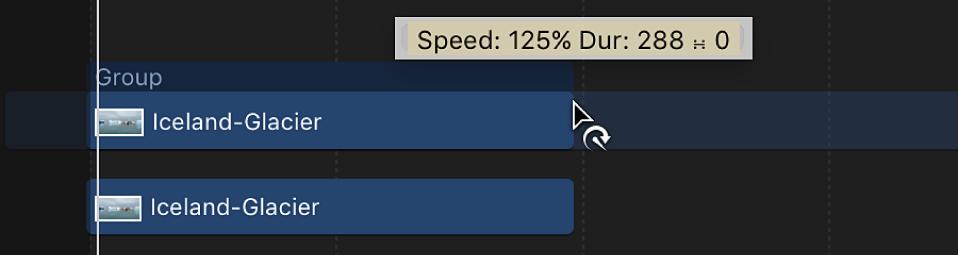 Puntero de reprogramación en la línea de tiempo