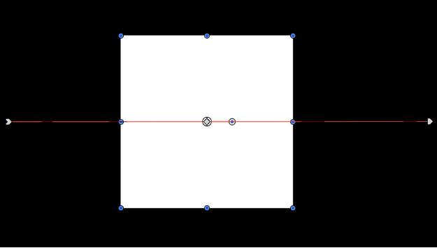 Lienzo y un objeto con la ruta de movimiento