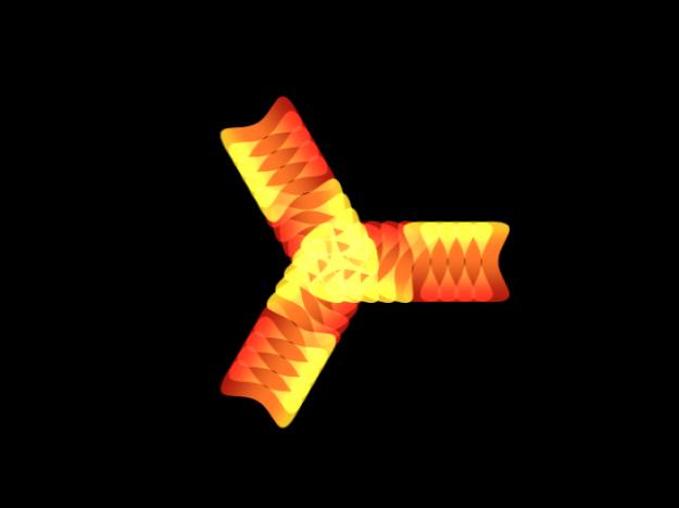 """Lienzo y el replicador con el comportamiento """"Replicador de secuencia"""" activado"""