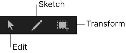 Herramientas de edición de fotogramas clave en el editor de fotogramas clave