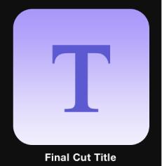 Icono del título de Final Cut en el explorador de proyectos