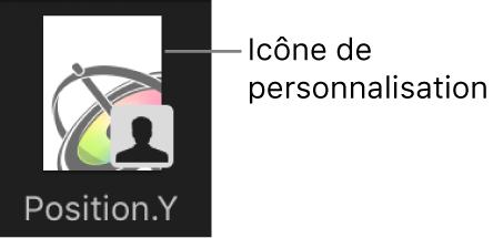 Icône de courbe personnalisée dans la bibliothèque