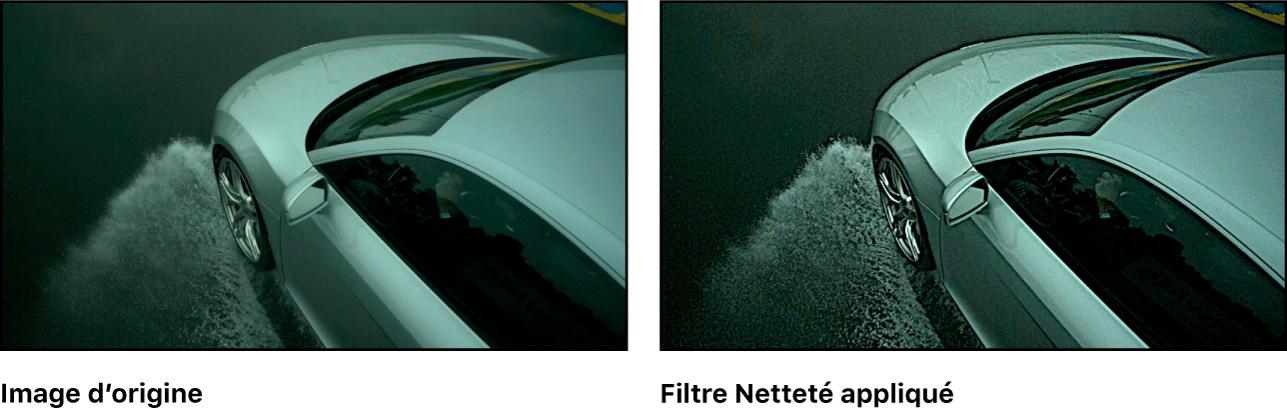 Canevas affichant l'effet du filtre Netteté