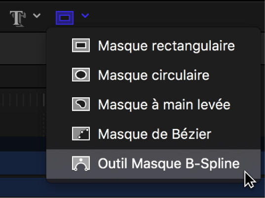 Outil Masque B-Spline dans la barre d'outils du canevas