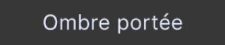 Bouton «Ombre portée du texte» de la Touch Bar