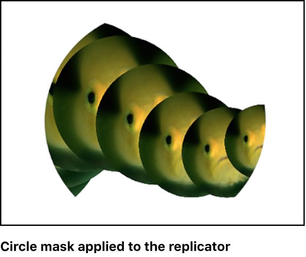 キャンバス。マスクが適用されたリプリケータが表示されています