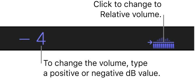 Die Anzeige unter dem Viewer mit den absoluten dB-Werten