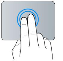 Geste für Doppeltippen mit zwei Fingern