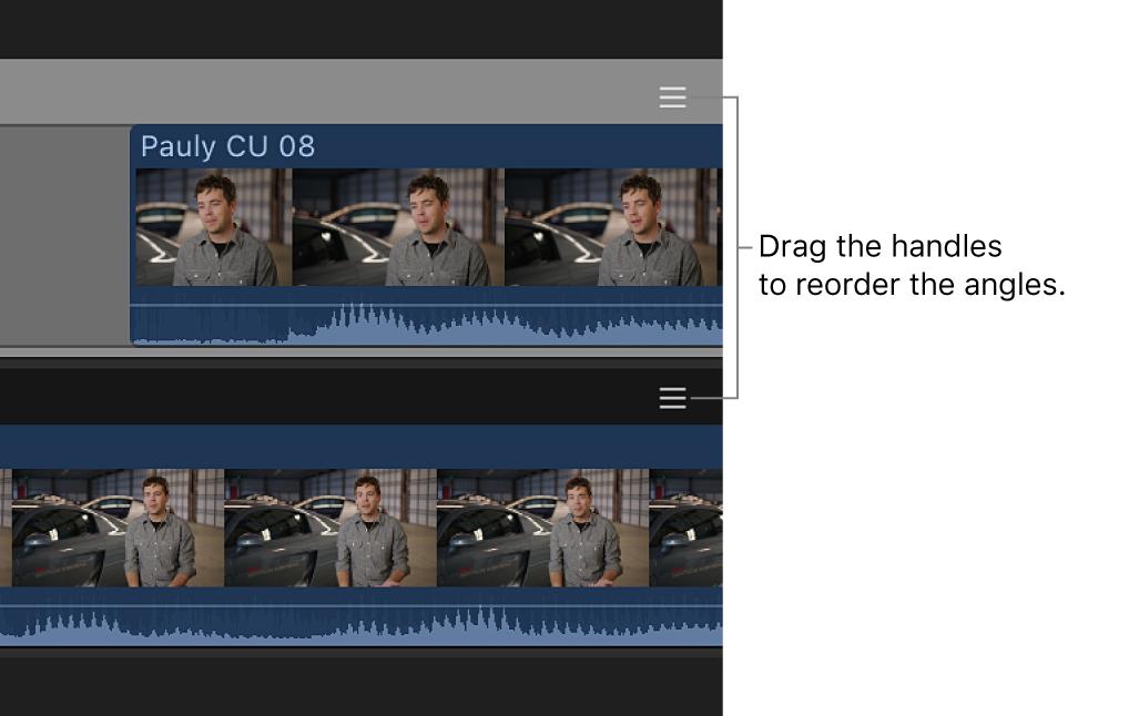 Aktivpunkte am rechten Rand der Kamerazeilen im Kamera-Editor