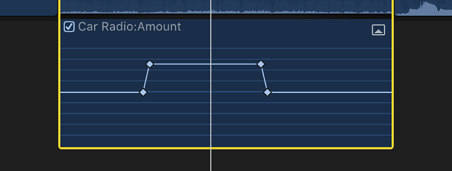 The Audio Animation editor showing the resulting keyframes