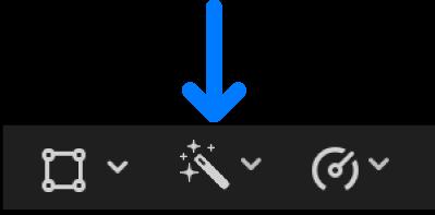 The Enhancements pop-up menu below the viewer