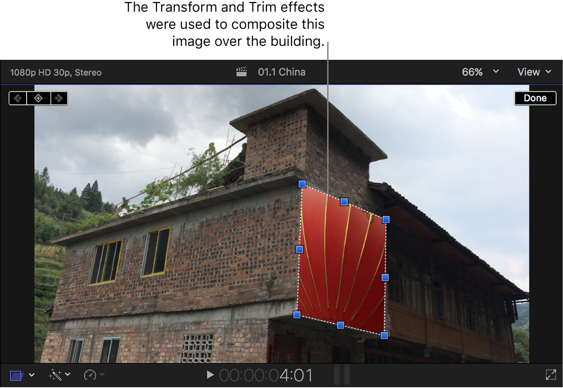 The viewer showing a composited image