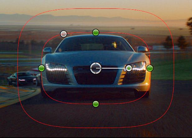 Visualiseur affichant un plan avec les commandes à l'écran d'un masque de forme