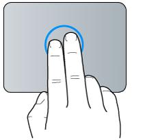 2本指でのクリックジェスチャー