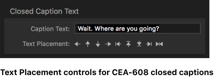 Controles de colocación de texto para subtítulos opcionales CEA-608