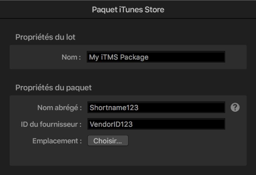 Inspecteur de paquet iTunes Store