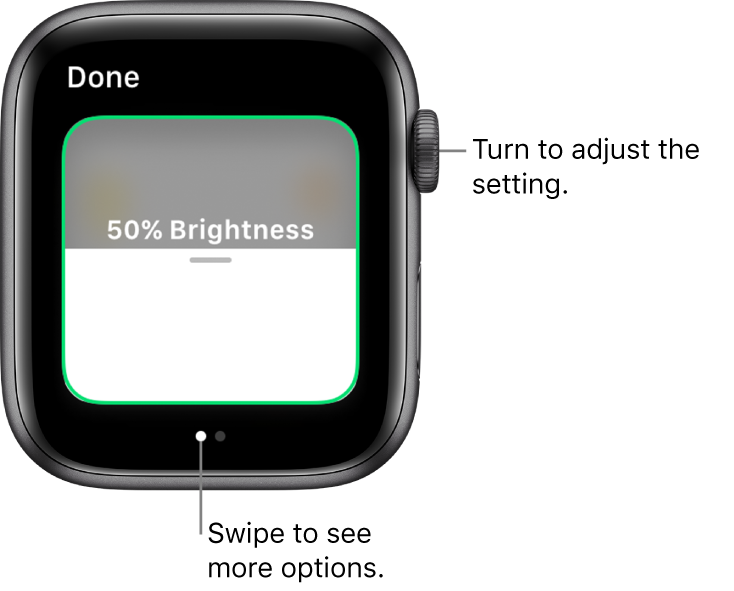 Home app showing a setting for light bulb brightness.