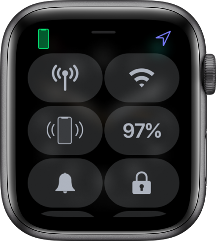 Control Center with the Lock icon in the bottom-right corner.