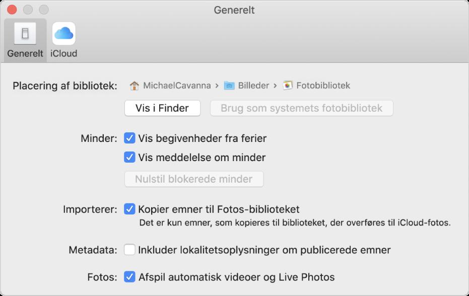 Skift Indstillinger I Fotos Pa Mac Apple Support