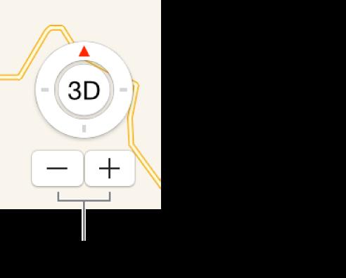 Κουμπιά ζουμ στον χάρτη.