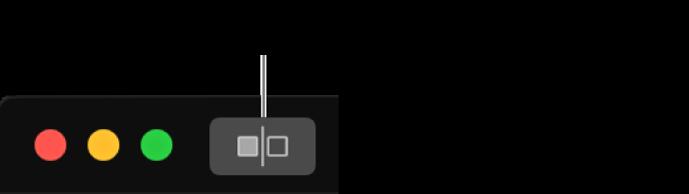 """El botón """"Sin ajustes"""" junto a los controles de la ventana en la esquina superior izquierda de la ventana."""