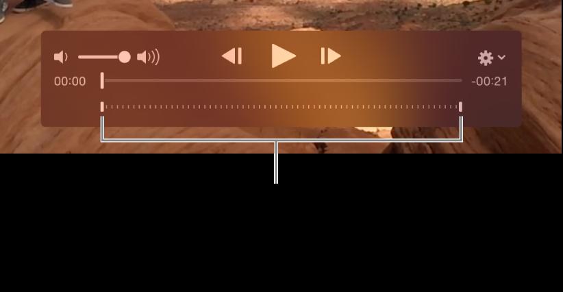 Controles de cámara lenta en un video.