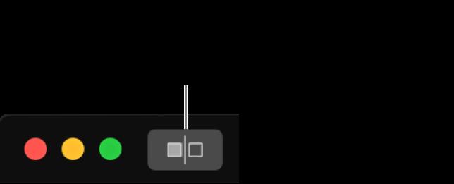 Le bouton Sans ajustement, à côté des commandes de la fenêtre dans le coin supérieur gauche de la fenêtre.