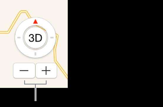 Les boutons Réduire/agrandir sur le plan.