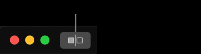 Tipka Bez podešenja, kraj kontrola prozora u gornjem lijevom kutu prozora.