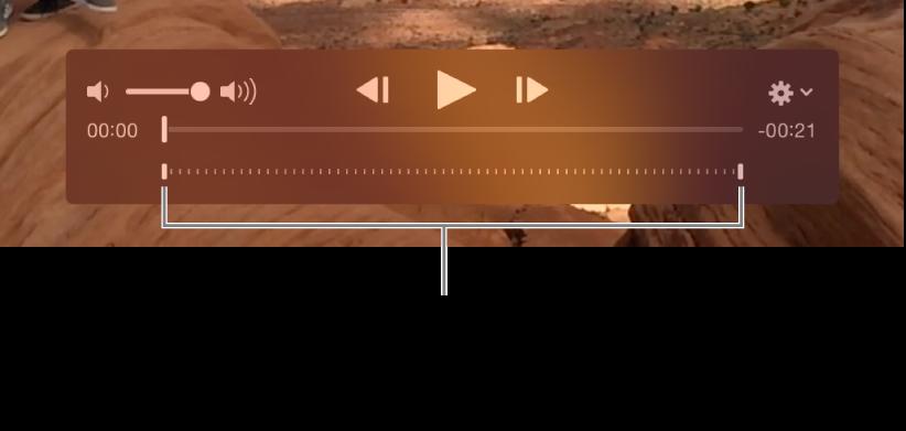 Kontrol gerakan lambat di klip video.
