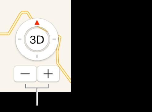 Кнопки масштабирования на карте.
