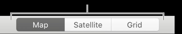 Кнопки «Карта», «Супутник» і «Сітка».