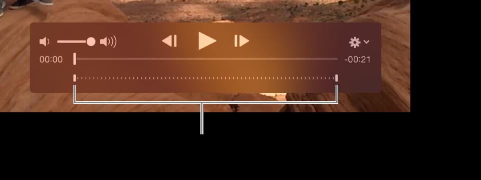 Елементи керування сповільненим відео у відеоуривку.
