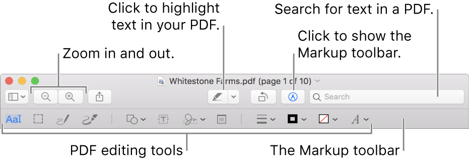 Annotate a PDF in Preview on Mac - Apple'i tugi