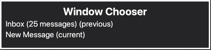 Bộ chọn ứng dụng là một bảng hiển thị danh sách các cửa sổ hiện đang mở.