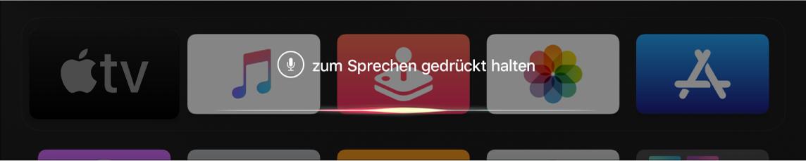 Home-Bildschirm mit Siri-Aufforderung