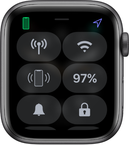 Pusat Kawalan dengan ikon Kunci di penjuru kanan bawah.
