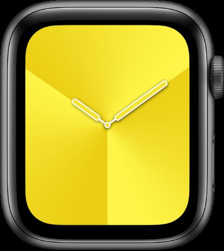 หน้าปัดนาฬิกาแบบไล่ระดับสี ซึ่งคุณสามารถปรับเปลี่ยนสี ลักษณะ และหน้าปัดได้
