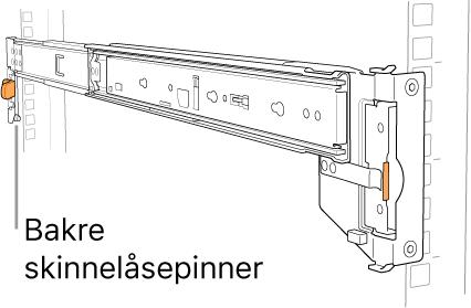 Skinner der plasseringen av de bakre skinnepinnene vises.