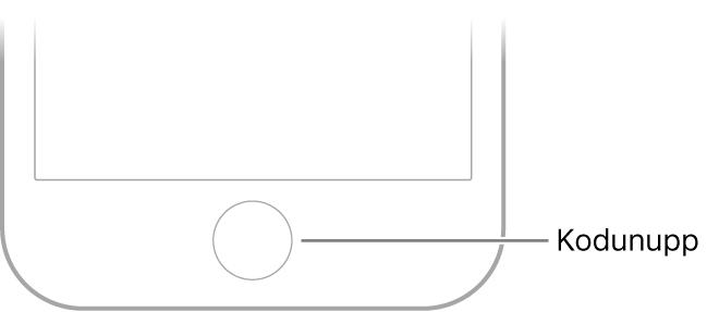 iPhone'i allservas olev Kodunupp.