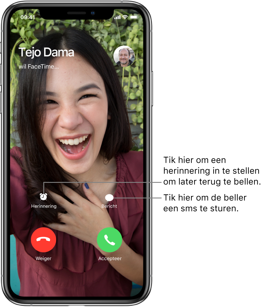 Via FaceTime bellen en gebeld worden op de iPhone - Apple Support
