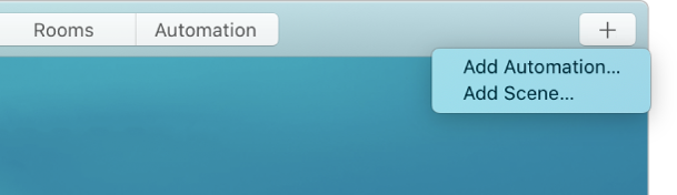 """الزاوية العلوية اليسرى لشاشة المنزل تعرض إضافة تحكم تلقائي وإضافة مشهد من القائمة """"إضافة""""."""