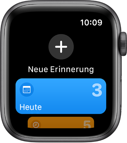 """Die App """"Erinnerungen""""."""