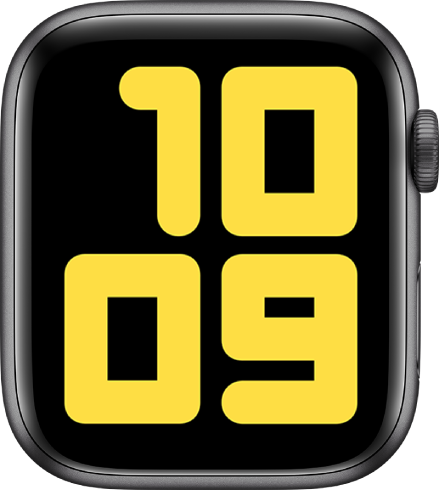 Numerals Duo watch face showing 10:09 in very large numbers.