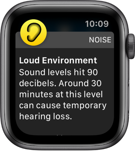 A noise notification.