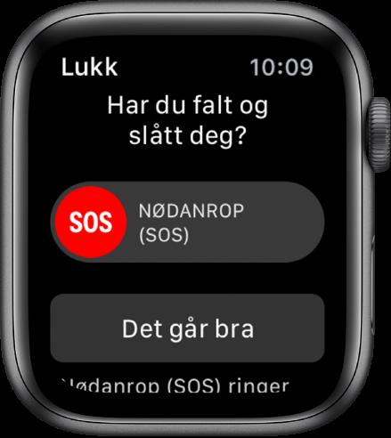 Fallregistrering-skjermen.